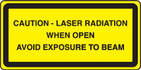 Caution Laser Radiation When Open Avoid Exposure To Beam
