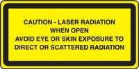 Caution Laser Radiation When Open Avoid Eye Or Skin Exposure To Direct Or Scattered Radiation