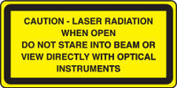 Caution Laser Radiation When Open Do Not Stare Into Beam Or View Directly With Optical Instruments