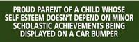 """Proud Parent...Car Bumper"" Bumper Sticker"