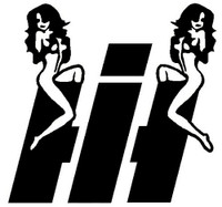 International Harvester Sexy Girls Decal