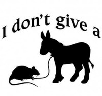 I Don't Give A Rats Ass Decal