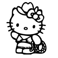 Hello Kitty Cowgirl Decal