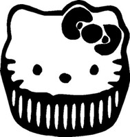 Hello Kitty Cupcake Decal
