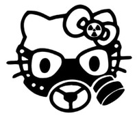 Hello Kitty Gas Mask Decal