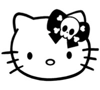 Hello Kitty Skull Bow Decal