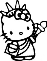 Hello Kitty Liberty Decal