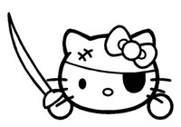 Hello Kitty Pirate Decal