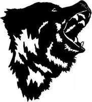 Angry Grizzly Bear Decal