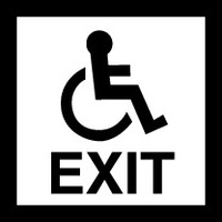 Disabled Exit (Black and White)
