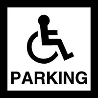 Disabled Parking (Black and White)