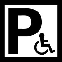Disabled Parking (Black and White) 1