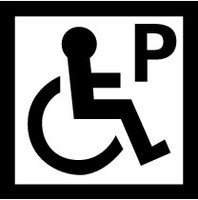 Disabled Parking (Black and White) 2