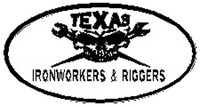 Texas Ironworkers and Riggers Hardhat Sticker