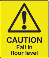 Caution Fall In Floor Level