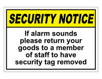 ANSI Security Notice If Alarm Sounds
