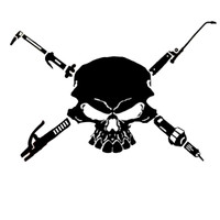 Welder Skull Decal #2