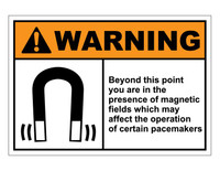ANSI Warning Beyond This Point You Are In The Presence Of Magnetic Fields 1
