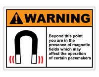 ANSI Warning Beyond This Point You Are In The Presence Of Magnetic Fields 2
