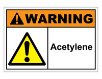 ANSI Warning Acetylene