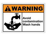 ANSI Warning Avoid Contamination Wash Hands