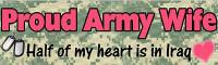 Proud Army Wife - Bumper Sticker