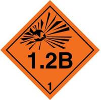 Class 1 Explosives 1.2 B Placard
