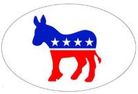 Democrat Donkey (Oval)