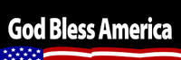 God Bless America - Bumper Sticker
