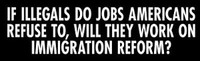 Illegals & Immigration Reform - Bumper Sticker