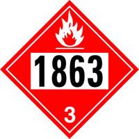 1863 Fuel Class 3 Placard