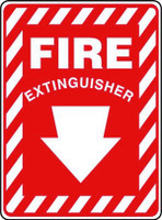 Fire Extinguisher With (Below) Arrow