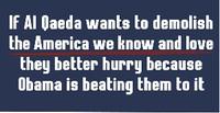Al Qaeda and Obama