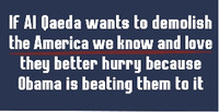 Al Qaeda and Obama Bumper Sticker