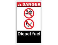 ANSI Danger Diesel Fuel #2