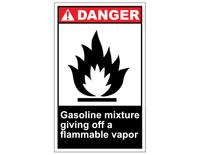 ANSI Danger Gasoline Mixture Giving Off A Flammable Vapor 1