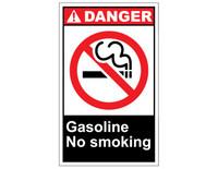 ANSI Danger Gasoline No Smoking 1
