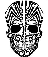 Artistic Skull Design Decal
