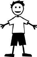 Boy Stick Figure Decal