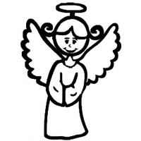 Angel Mom Stick Figure  Decal