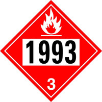 1993 Fuel Class 3 Placard