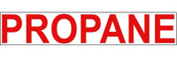 Propane Label (Red Letters/White Background)