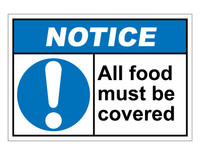 ANSI Notice All Food Must Be Covered