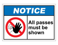 ANSI Notice All Passes Must Be Shown