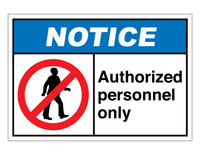 ANSI Notice Authorized Personnel Only