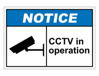 ANSI Notice CCTV Operation