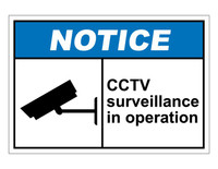 ANSI Notice CCTV Surveillance In Operation