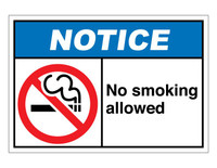 ANSI Notice No Smoking Allowed