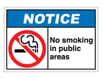 ANSI Notice No Smoking In Public Areas
