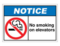 ANSI Notice No Smoking On Elevators
